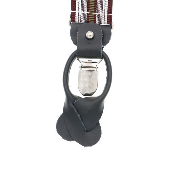 Fashion Adult Suspender Adjustable Striped Y Back Braces Bow Tie Set Box Dual Use 3 Clips And 6 Button