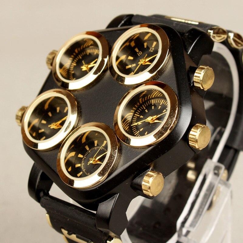 Мужские спортивные наручные часы, кварцевые Силиконовые часы в стиле хип-хоп с большим циферблатом