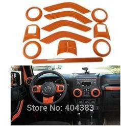 Darmowa wysyłka KIEROWNICA wykończenia kratka nawiewu powietrza akcesoria do wnętrz drzwi osłona klamki zestawy ABS Chrome dla Jeep Wrangler JK