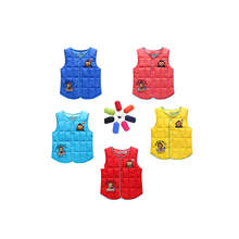 2-Eight Years youngsters vest woman boy waistcoat cartoon Winter& Autumn Vest Cotton Feather Warm Children Vest Clothes Facory outlet