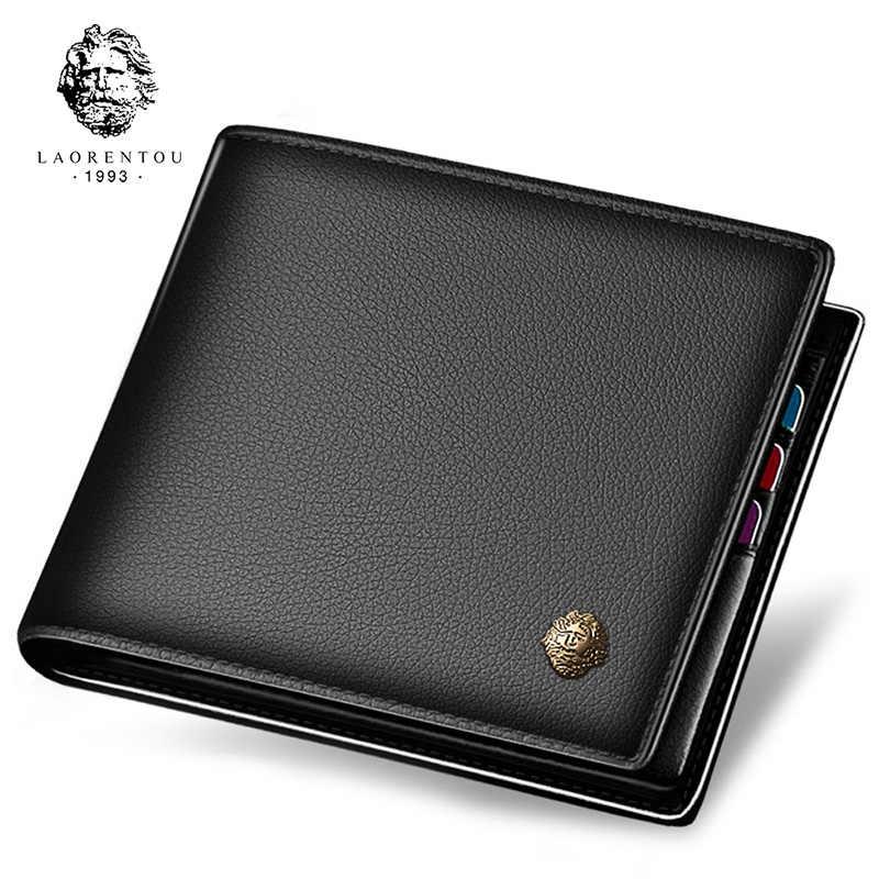 <b>LAORENTOU Men's Genuine Leather</b> Business Messenger Bag ...