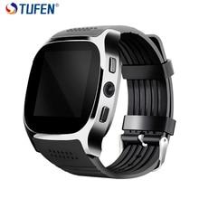 TUFEN T8 Smart Montre Téléphone Support Carte SIM Bluetooth Appel Smartwatch Avec Alarme Horloge Calculatrices Pour Hommes Enfant Dispositifs Portables