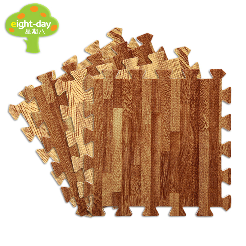 9pcs Soft Foam Mats Playmat Wood Grain Flooring Tiles PE Foam Rug Puzzle Mats Home EVA Flooring Foam Tiles Mats For Kids