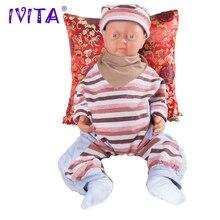 "IVITA 18 INCH Reborn Baby GIRL 18 ""-os Realisztikus Szilikon Reborn Baby Teaching Doll WG1501"