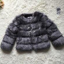 Cp шуба лисы пушистый короткая шерсть мило меха искусственного зимняя женщина