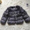 CP Marca Corto Abrigo de Pieles Del Invierno Mujeres de La Manera de Imitación de Piel de Zorro abrigos Lindo Peludo Mujer Fake Fur Jacket Plus Size Fur Coat chaqueta