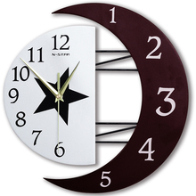 Modern creative decorative 16 inh wall clock month start fashion for bedroom living room minimalist personality