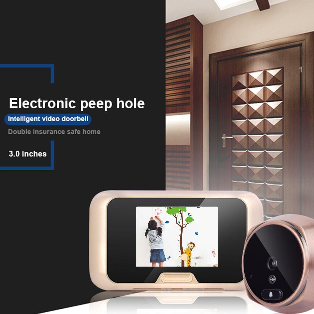 3 Inch HD LCD Screen Doorbell IR Night Digital Peephole Viewer Home Security Motion Detection Doorbell hd 4 1 quad multi viewer quad screen real time multi viewer splitter seamless switcher 1080p 60hz ir control eu us plug black