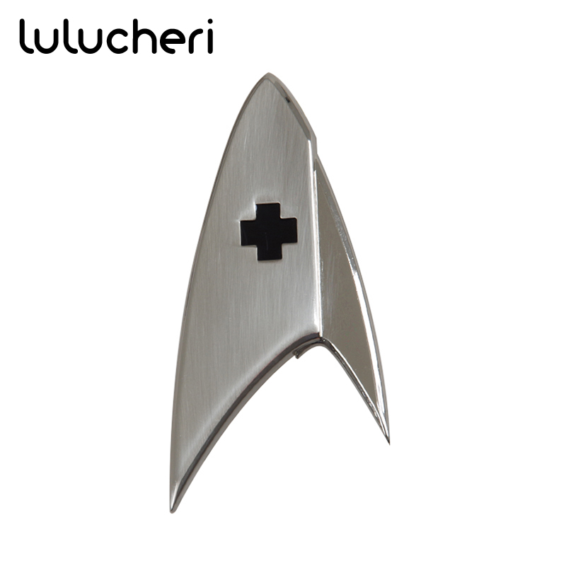 Discovery Medical Division Metal Badge Starfleet Officer Uniform Suit Brooches Halloween & Christmas Costume Accessories