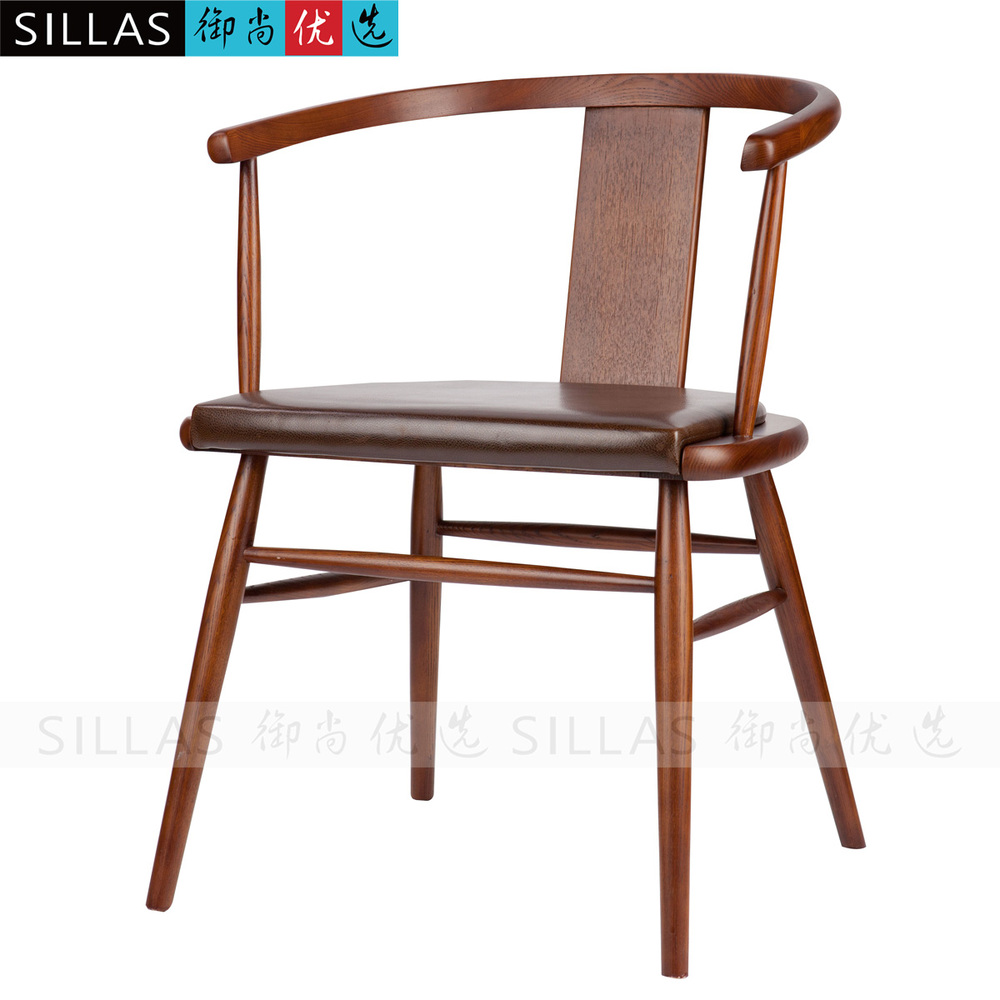 Solid Wood Chair Modern Chinese New Chinese Ming Chair Leisure Furniture  Restaurant Hotel Continental Scandinavian Armchair In Shampoo Chairs From  Furniture ...