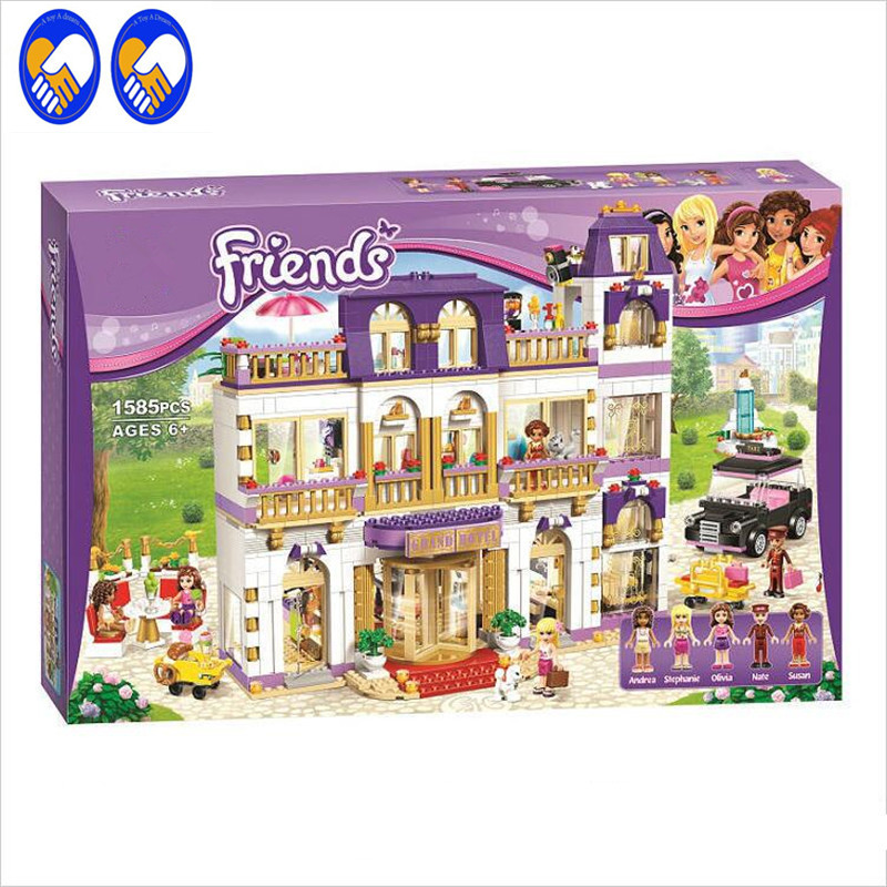 A Toy A Dream 10547 Girl Series Heart Lake City Hotel Girl Friends Building Blocks Figures Bricks Toys ZB-A248 a toy a dream lepin 15008 2462pcs city street creator green grocer model building kits blocks bricks compatible 10185