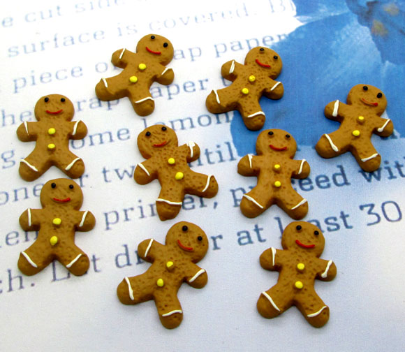 20Pcs Resin Christmas Snowman Cookies Crafts Flatback Cabochon Scrapbooking Decorations Fit Hair Clips Embellishments Beads Diy