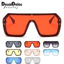 8b9a80c94a Rojo Negro sobredimensionado cuadrado gafas de sol Hombres Nuevo 2019 una  pieza lente gran marco gafas de sol para las mujeres U..