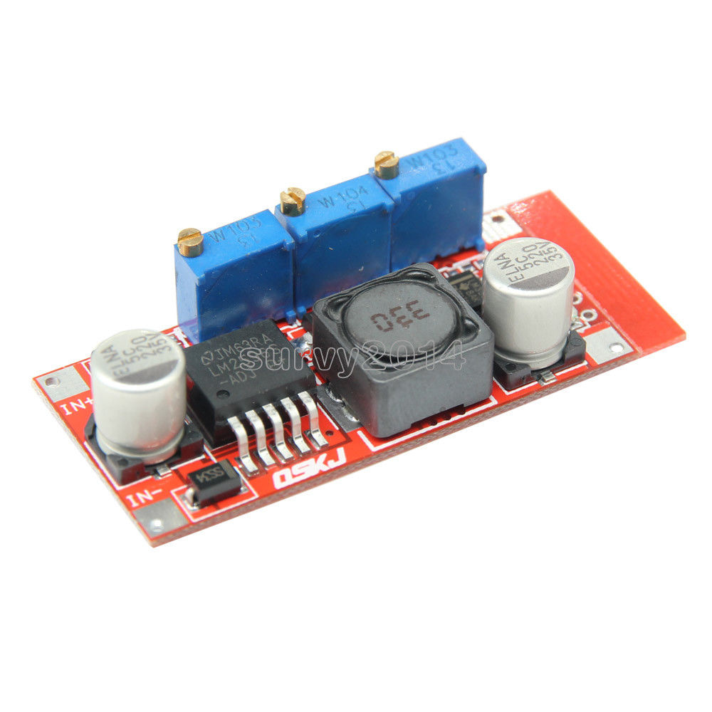 LM2596 DC-DC Step Down CC CV Power Supply Module LED Driver Battery Charger Adjustable LM2596S Constant Current Voltage adroit dc dc cc cv buck converter step down 7 32v to 0 8 28v 12a adjustable constant voltage current power supply module 30s7327
