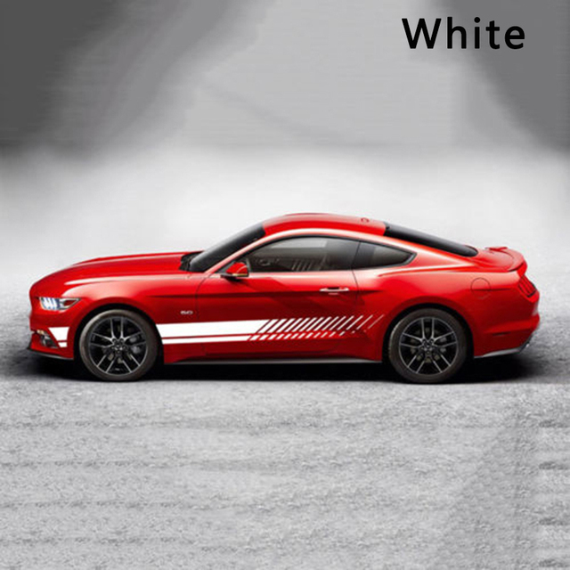 2pcs Tuning Whole Body Door Car Vinyl Car Stickers and Decals Sports Racing Auto Decal Sticker Car Accessories