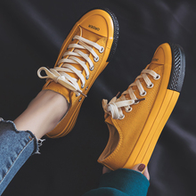 Canvas Fashion Shoes Woman 2019 Spring New Fashion Candy Color Women Casual Shoes Flats Canvas Women Casual Solid Shoes Sneakers