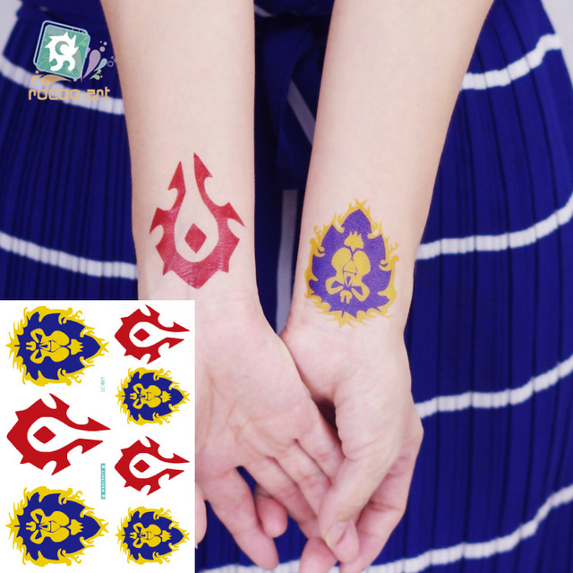2Different Styles Rocooart Waterproof Temporary Tattoo Stickers World Of Warcraft Tattoo Design Cool Tribal Tattoo For Men