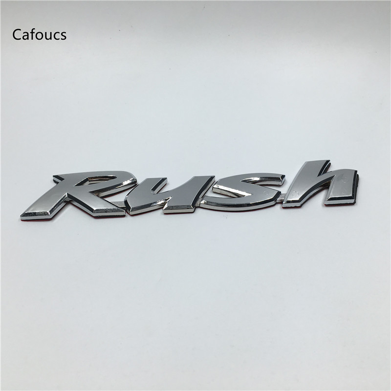 Cafoucs For Toyota Rush Letter Rear Trunk Emblem ABS Plastic Nameplate Sticker Tail Badge Decal cafoucs for hyundai elantra car abs chrome letters emblem rear trunk badge tail logo sticker