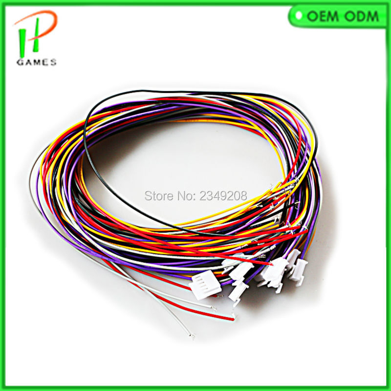 Stretched Sanwa joystick wires cable 5 pin connector wiring for LED arcade joystick Wire harness stretched sanwa joystick wires cable 5 pin connector wiring for Off-Road Light Wiring Harness at crackthecode.co