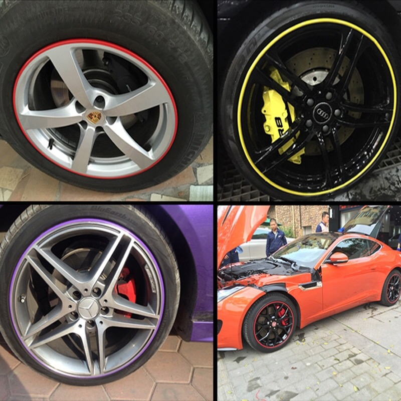 "315/""//Roll Car Wheel Rim Protector Sticker Hub Tire Decor Anti-Collision Strip"