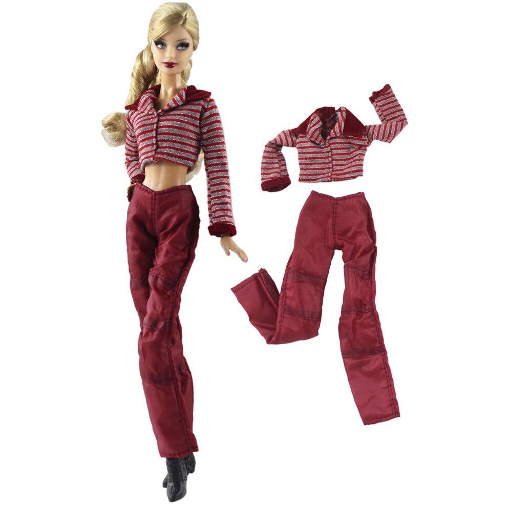 5626144f4 NK مجموعة واحدة دمية ملابس دمى اللباس الترفيه أزياء السراويل تنورة حزب ثوب ل  دمية باربي دمية فتاة أفضل هدية
