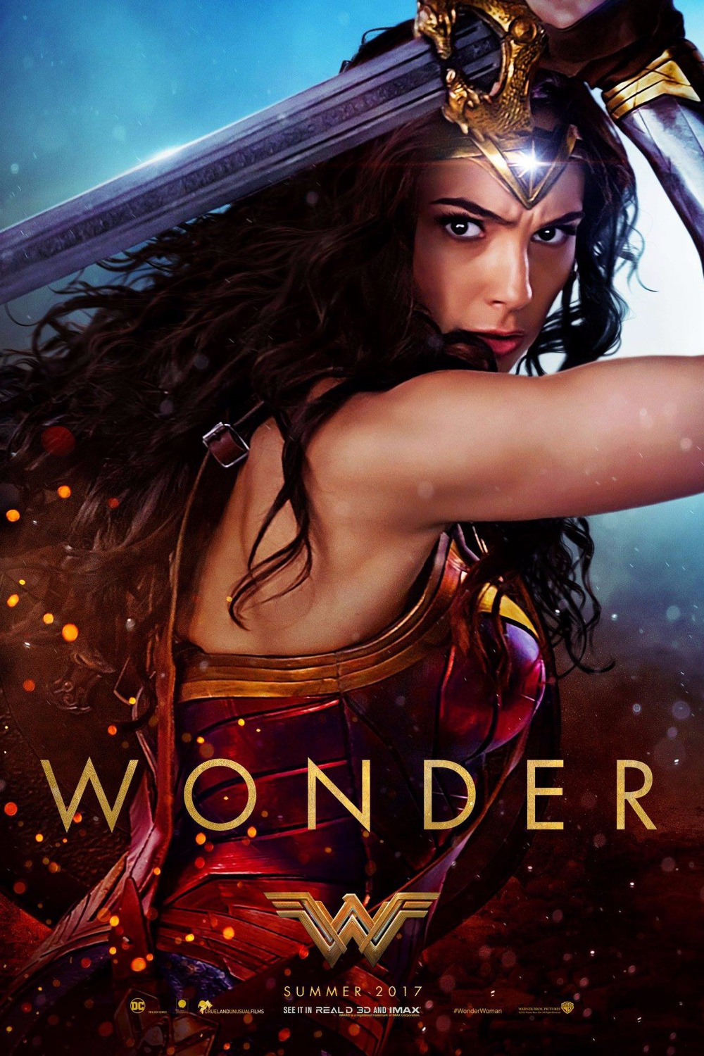 Free delivery Wonder Woman Movie poster fabric silk poster print Home Decoration 60x90 cm