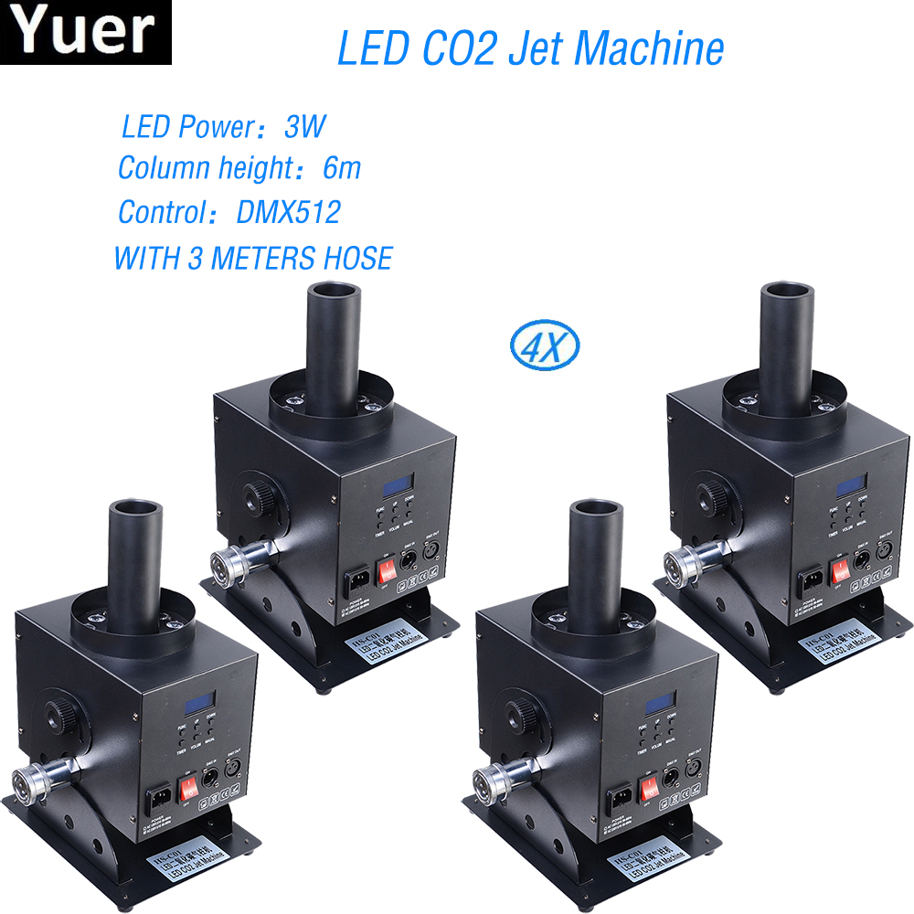 4Pcs/Lot Stage Lighting LED Co2 Jet Machine Stage Gas Effect Dj Equipment 3w DJ LED Co2 Cannon For Stage Effect free shipping co2 machine electric valve american dj co2 valve spare part led stage light co2 machine jet stage light 100v 220v
