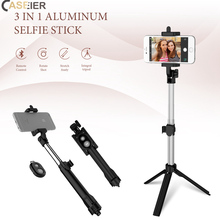 CASEIER Tripod For Phone Bluetooth Selfie Holder Stick Mobiel Palo Handheld iPhone Android