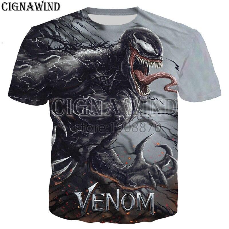 Womens Mens Unisex Venom Face Tee Shirt Short Sleeve Tops T-Shirt Couple Blouse