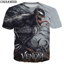 New arrive popular marvel movie venom t shirt men women 3D print fashion short sleeve tshirt