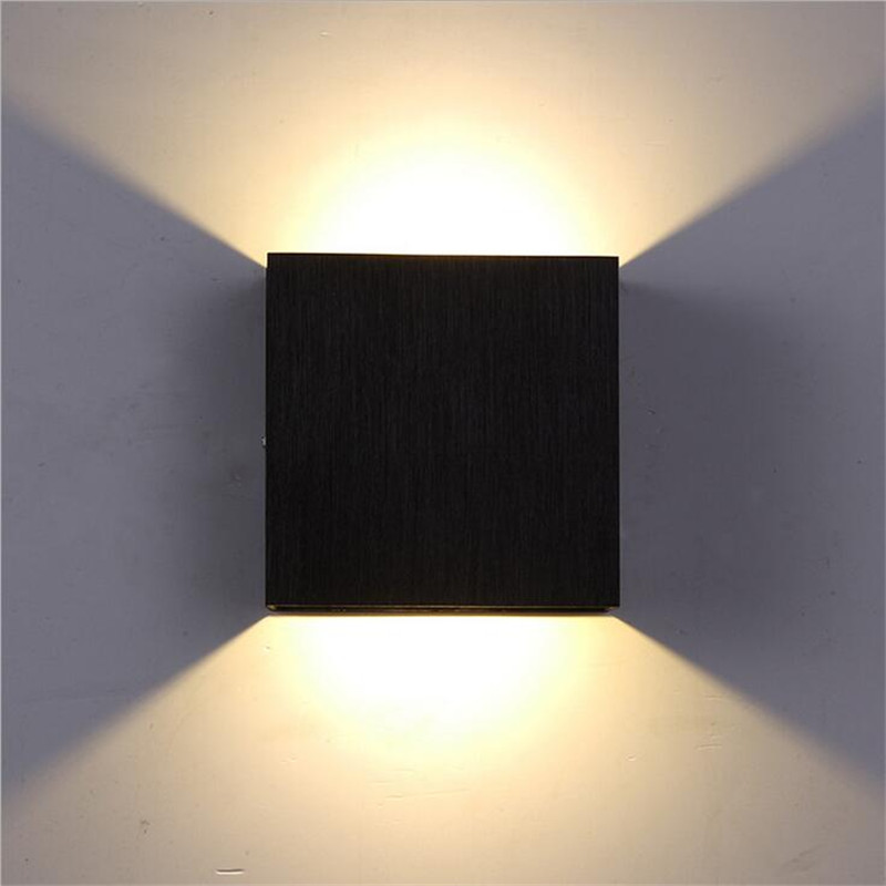NEW Modern Minimalism Aluminum Led 6w Wall Lamp For Living Room Bedroom Aisle Background Metal 3 colors Porch Lights 1479 2 color northern europe metal wall lamp modern simple minimalism iron wall lighting fixtures for living room aisle