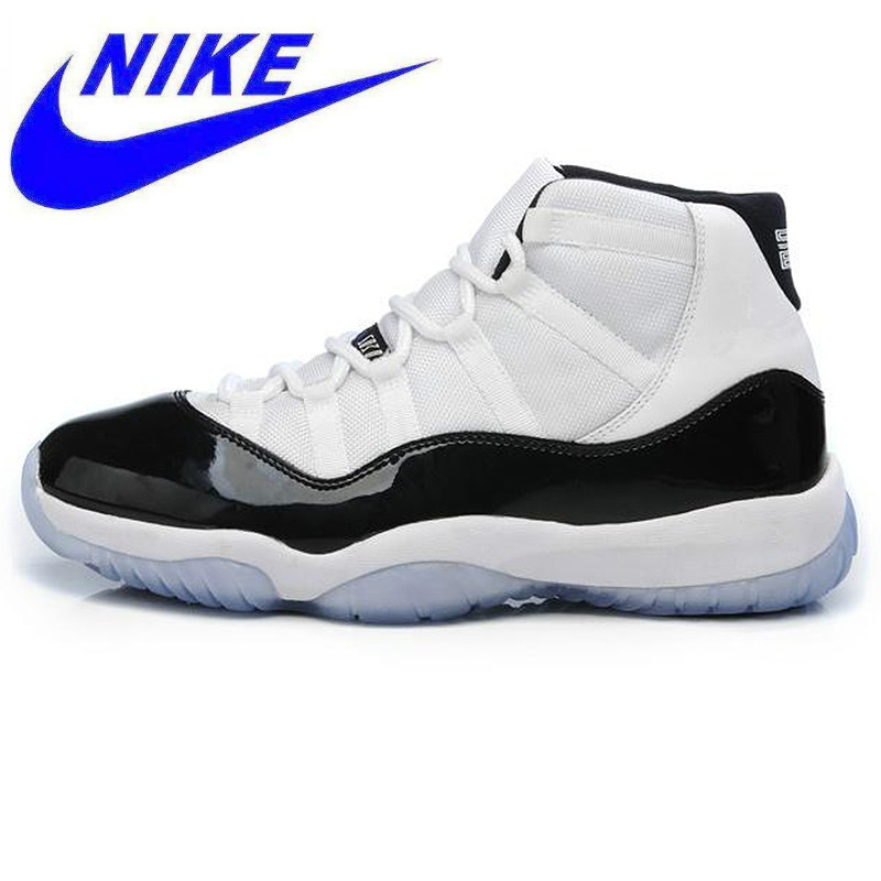 7c5063b4668a77 wear-resistant Nike AIR JORDAN 11 CONCORD GS Aj11 women s basketball shoes