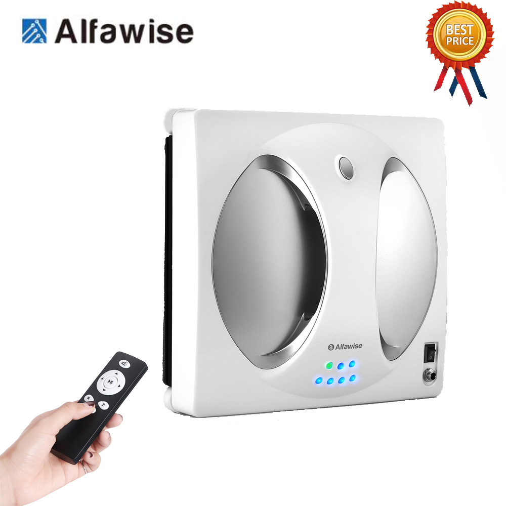 Alfawise WS-960 Smart Robot Vacuum Window Cleaner Outside/Upper Window Glass 4LCDs 360° Rotating Remote Control Cleaning Robot