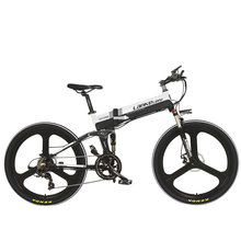 Lankeleisi  XT750 Folding Electric Bike Mountain Bike 7 Speed 5 PAS Full Suspension Smart Computer MTB E-Bike 48V 10AH new arrival double lg battery 100 150km long range electric bike mountain style full suspension e bike