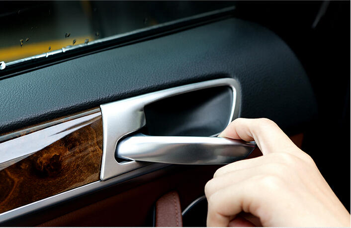 4pcs/set Steel Interior Side Door Handle Bowl Cover Trim Car styling For BMW X5 E70 2008 2009 2010 2011 2012 2013 6pcs car inner door handle button bowl decorative cover trim styling sticker fit for cayenne 2011 2016 car decal accessary