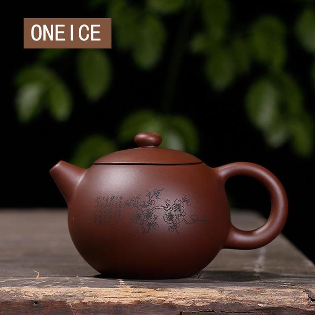 Purple clay plum LAN bamboo Chrysanthemum Shih Kettle handmade pot Yixing teapot pure hand handmade