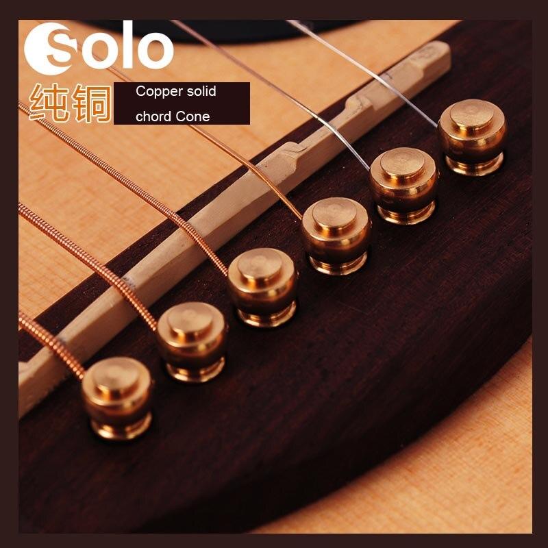 Cone Copper Metal Acoustic Guitar Bridge Pins Guitar String Pegs Acoustic Classical Guitar Parts Accessories 6pcs