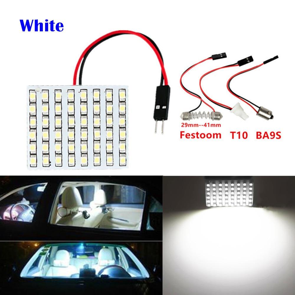 48 SMD Blå, hvid, varm hvid Paneldrevet bil T10 BA9S Festoon Dome - Billygter - Foto 3