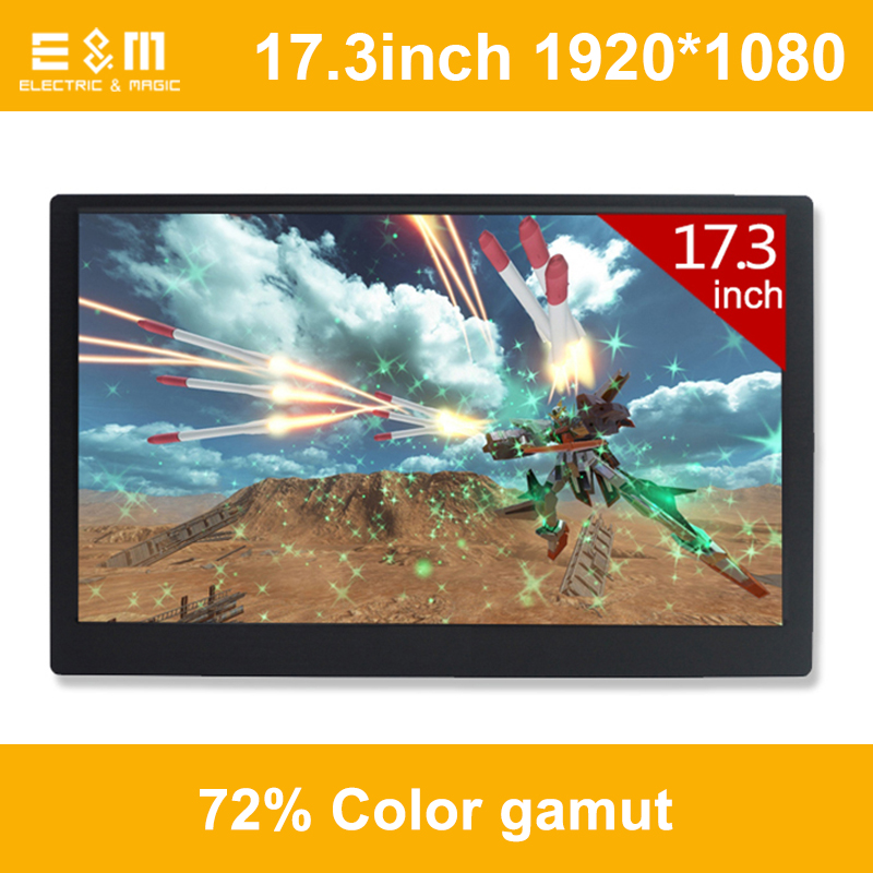 17.3 Inch 120hz NTSC 72% HDR IPS Game Portable Screen High Refresh Rate 1920*1080 Ps4 Xbox NS Display HDMI Monitor PC Laptop ...