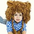 Unisex kid boy sombreros del sombrero cosplay cap sombrero de lujo lion característica de navidad año nuevo regalo de cumpleaños apoyos de la foto