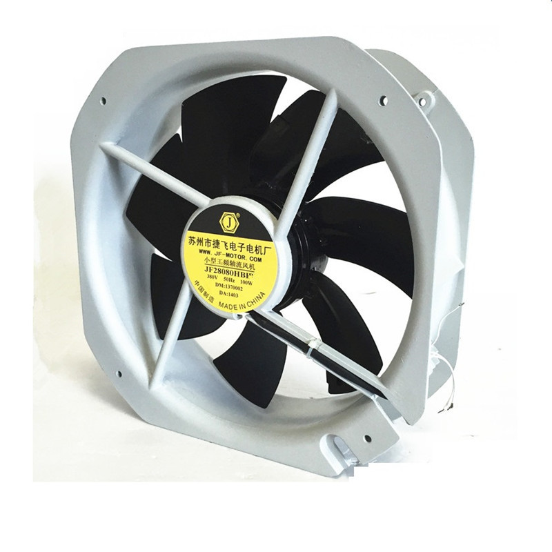 все цены на JF-28080HBL2 280*280*80mm Cooling Fan Industrial Axial Fan 220V 100W High Temperature Pure Copper Motor