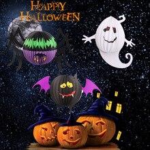 3pcslot pumpkin banner spider haunted house hanging garland scary halloween banner decoration halloween outdoor decor supplies