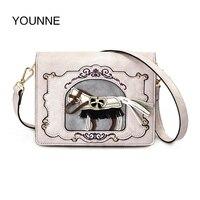 YOUNNE Women MINI Bag Female Fashion Shoulder Bag Lady Horse Printing Cute Flap Women Hight Quality