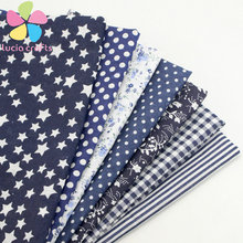1piece/lot Navy blue range Fabrics For Patchwork Telas Cotton Fabric Printed Sewing Doll Cloth 50*50cm 20020053(50*50D1)