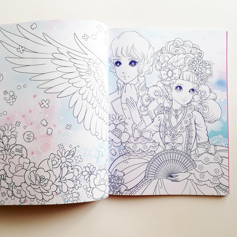 2 unids/set princesa bonita libros para colorear súper valorado ...