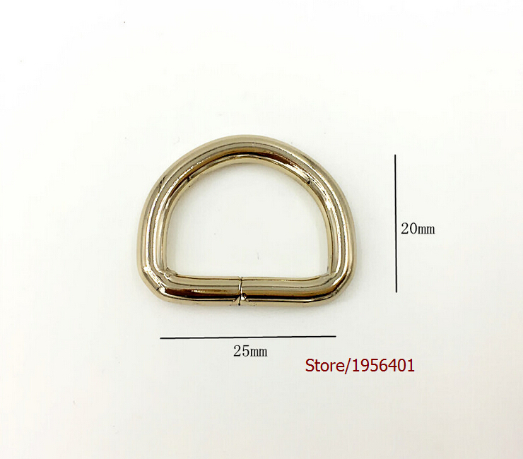 1''x34''High quality Lighter Gold D Ring for Bag parts Bag hardware accessories, Shoes, Buckle belt parts Rings