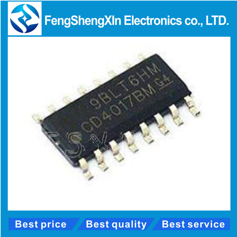 10pcs/lot CD4017BM HEF4017BT CD4017 HCF4017 SOP-16 CMOS COUNTER/DIVIDERS  IC