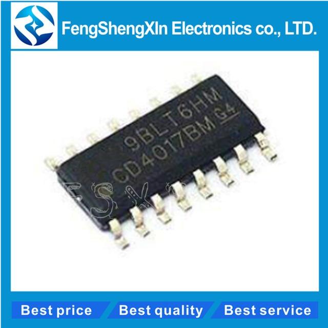 10pcs/lot CD4017BM HEF4017BT CD4017 HCF4017 SOP-16 CMOS COUNTER/DIVIDERS IC