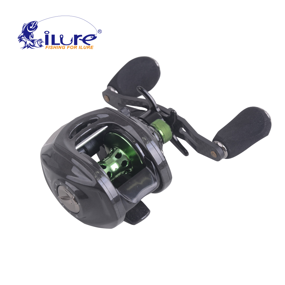 все цены на Top Quality iLure Carbon Super Light Brand 192.8g Smart Lef/Right Hand 10BB High Speed 6.4:1 Baitcasting Fishing Reel онлайн