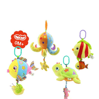 Baby Rattles Toys Stroller Hanging Soft Toy Cute Animal Doll Baby Crib Bed Hanging Bells Toys
